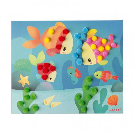 Set creativ - Bricolaj cu pompoane, Janod J077871