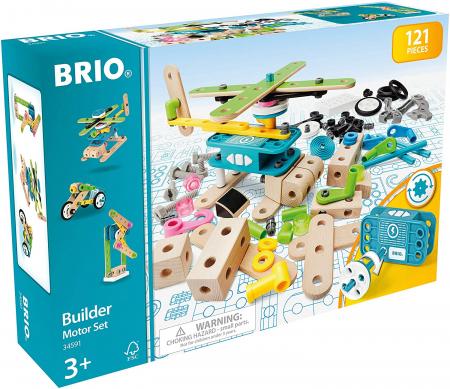 Set de construit din lemn - Motorizat, Brio 345917