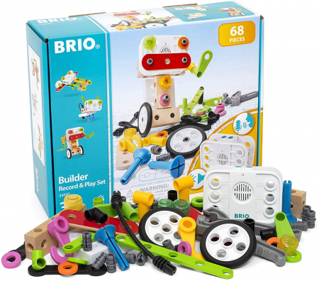 Set de construit din lemn - Record & Play, Brio 345921