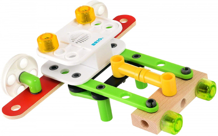 Set de construit din lemn - Record & Play, Brio 345923