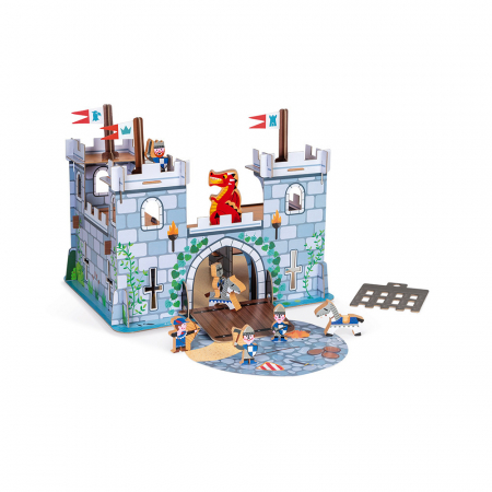 Set de joacă din lemn mini povești - Castelul fortificat și dragon - Janod J08582 [2]