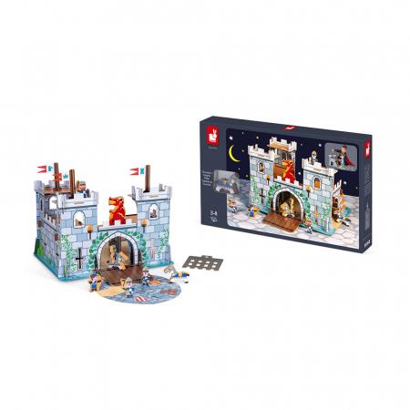 Set de joacă din lemn mini povești - Castelul fortificat și dragon - Janod J08582 [4]