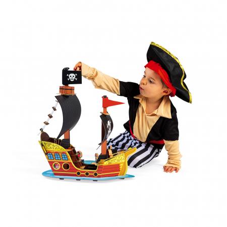 Set de joacă din lemn mini povești - Corabie de pirați - Janod J085792