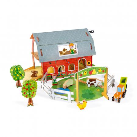Set de joacă din lemn mini povești - Fermă cu animale - Janod J085770