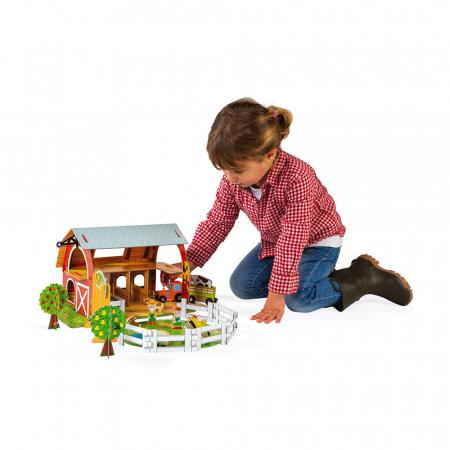 Set de joacă din lemn mini povești - Fermă cu animale - Janod J085772