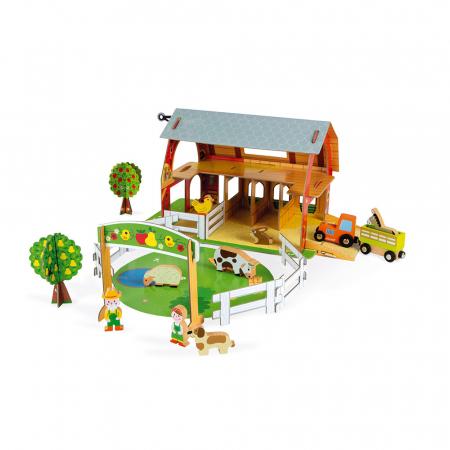 Set de joacă din lemn mini povești - Fermă cu animale - Janod J085773