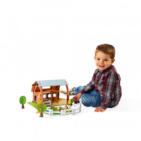 Set de joacă din lemn mini povești - Fermă cu animale - Janod J085774