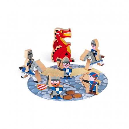 Set de joacă din lemn mini povești - Set cavalerii și dragonul - Janod J085810