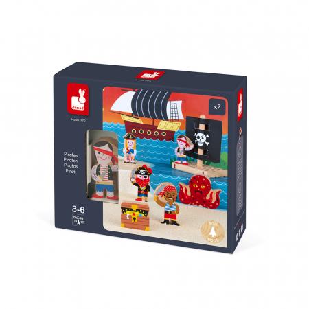 Set de joacă din lemn mini povești - Set de pirați - Janod J085801