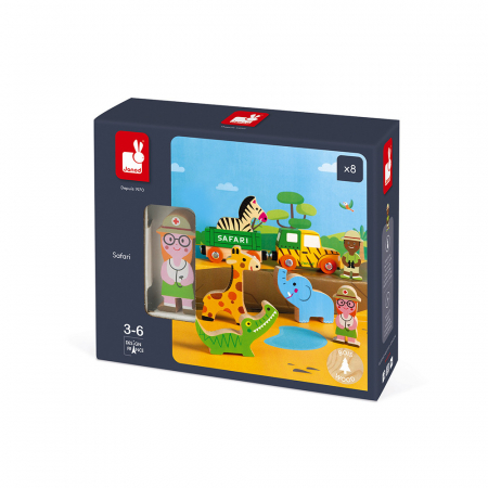 Set de joacă din lemn mini povești - Set de safari - Janod J085831