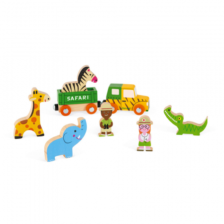 Set de joacă din lemn mini povești - Set de safari - Janod J085832