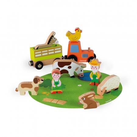 Set de joacă din lemn mini povești - Set fermă din lemn - Janod J085760