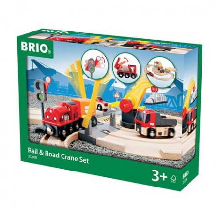 Set de macara pe șine și șosea, Brio 332081