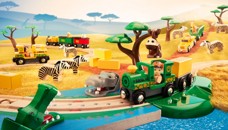 Set de tren deluxe BRIO World, 3387014