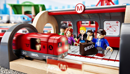 Set de tren deluxe BRIO World, 3387018