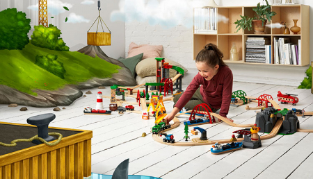 Set de tren deluxe BRIO World, 338709