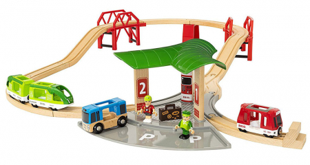 Set de transport de persoane, cu stație de autobuz, Brio 336270