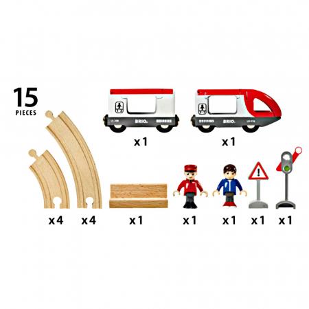 Set trenuleț pasageri rotund, Brio 335114
