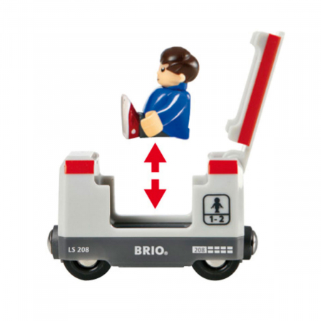 Set trenuleț pasageri rotund, Brio 335112