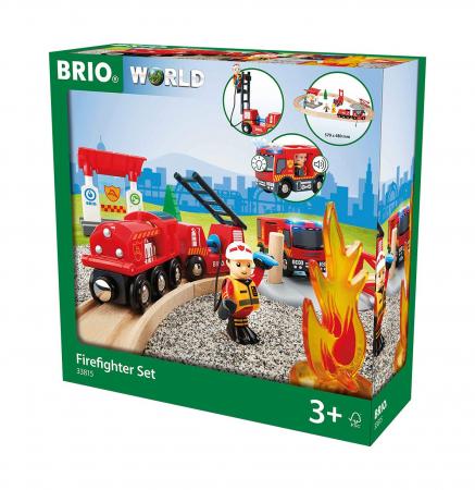 Set trenuleț pompieri, Brio 338150