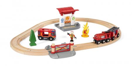 Set trenuleț pompieri, Brio 338151