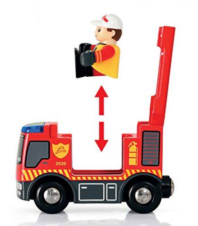 Set trenuleț pompieri, Brio 338153