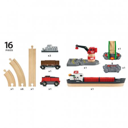 Setul de tren din port, Brio 330616