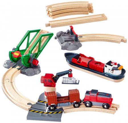 Setul de tren din port, Brio 330618