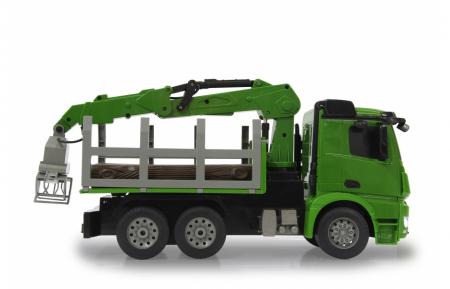 Transportor de cherestea cu telecomandă Mercedes-Benz Arocs 1:20, Jamara 4049357