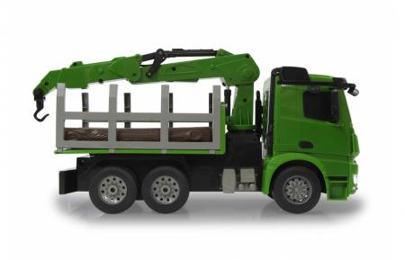 Transportor de cherestea cu telecomandă Mercedes-Benz Arocs 1:20, Jamara 4049358