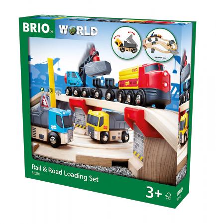 Un set conținând șosea și cale ferată pentru carieră, Brio 33210 [1]