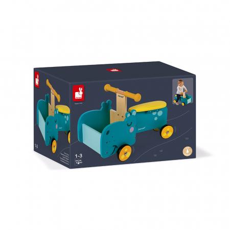 Vehicul din lemn - Hipopotam cu depozitare - Janod J080031