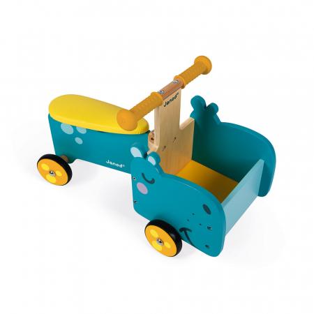 Vehicul din lemn - Hipopotam cu depozitare - Janod J080035