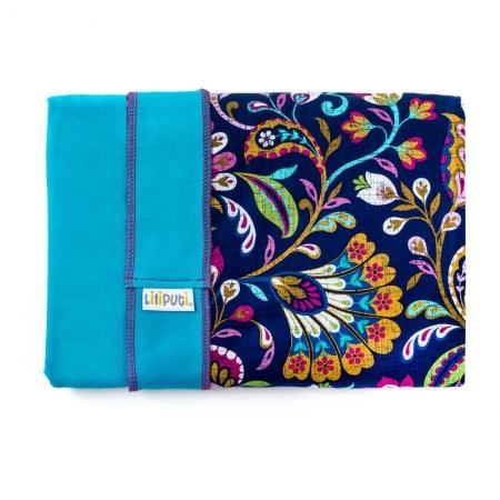 Wrap elastic Liliputi® Rainbow line - Peacock Bloom1