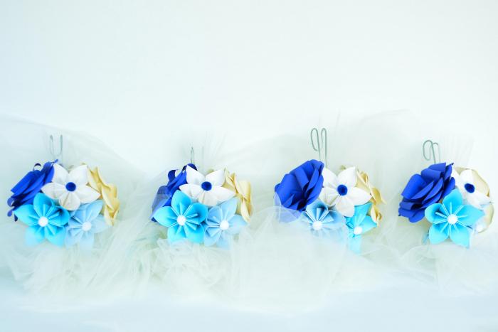 Aranjament cristelniță Albastru-Bleu 0