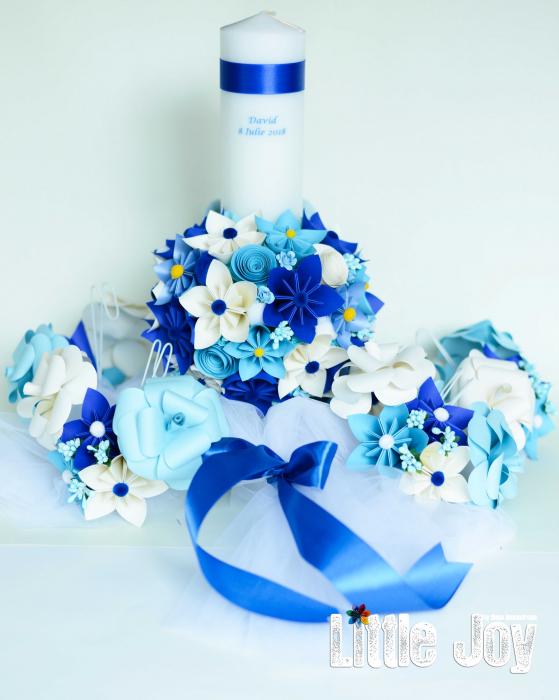 Aranjament cristelniță Bleu-Alb 1