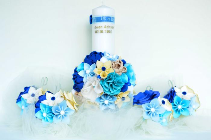 Aranjament cristelniță Albastru-Bleu 3