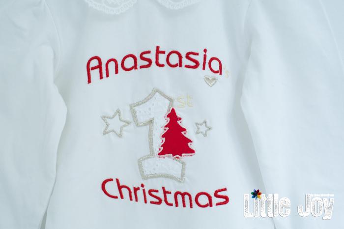 Set Body Brodat Crăciun - Anastasia + botoșei 1