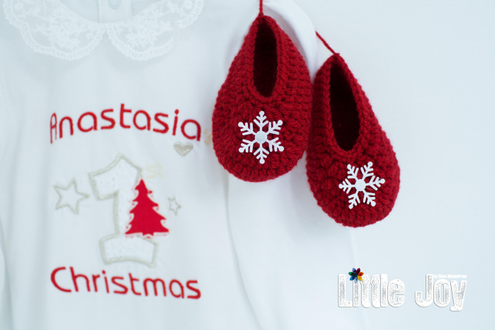 Set Body Brodat Crăciun - Anastasia + botoșei 4
