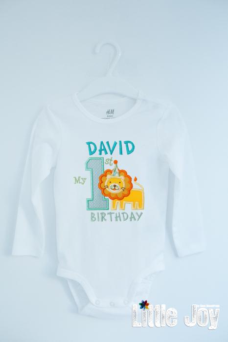 Body Brodat prima aniversare - David 0