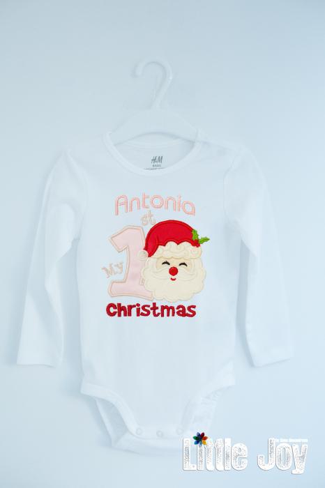 Body Brodat primul Crăciun -Antonia 0
