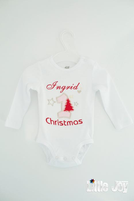 Body Brodat primul Crăciun - Ingrid 0