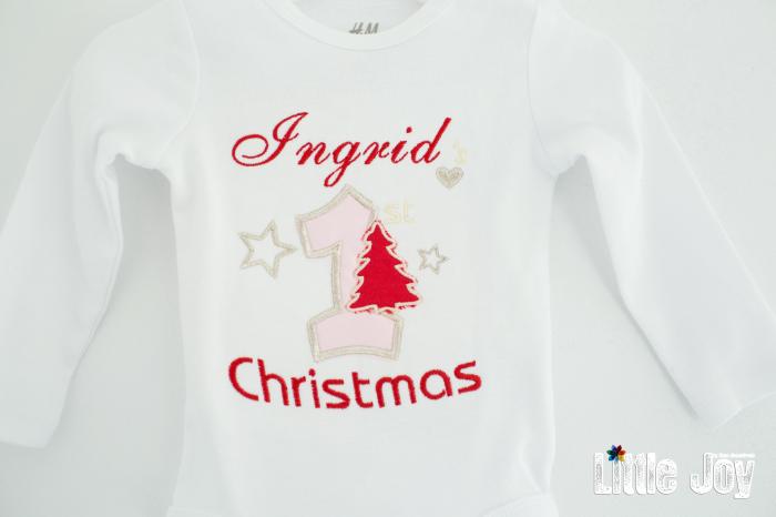 Body Brodat primul Crăciun - Ingrid 1