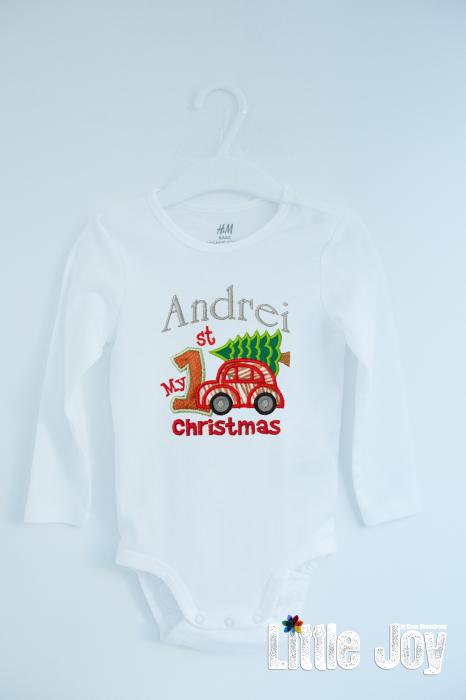 Body Brodat primul Crăciun -Andrei 0