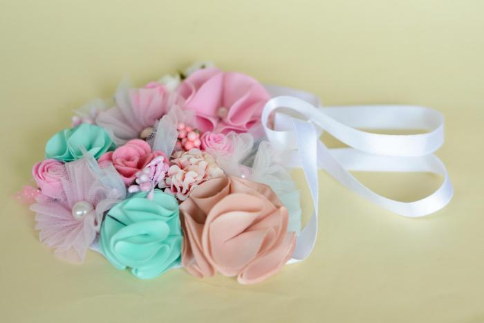 Colier flori textil [2]