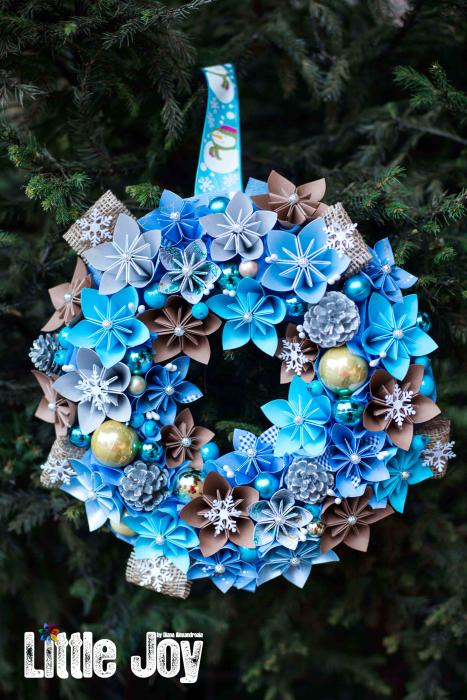 Coroniță Decor Crăciun - Bleu 0