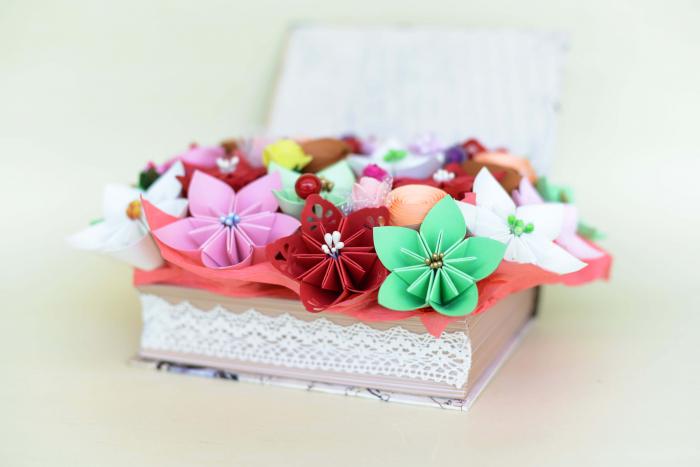 Cutie carte - Flori hârtie [2]