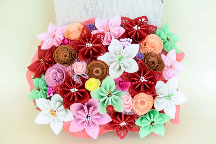 Cutie carte - Flori hârtie [0]