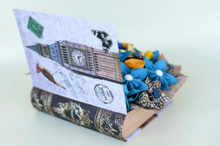 Cutie carte - Flori hârtie 4