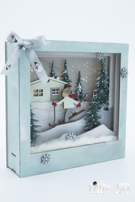 Cutie decor 3D Crăciun 1